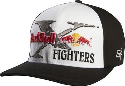 Fox baseballsapka Flexfit Red Bull X-Fighters Core fekete-fehér