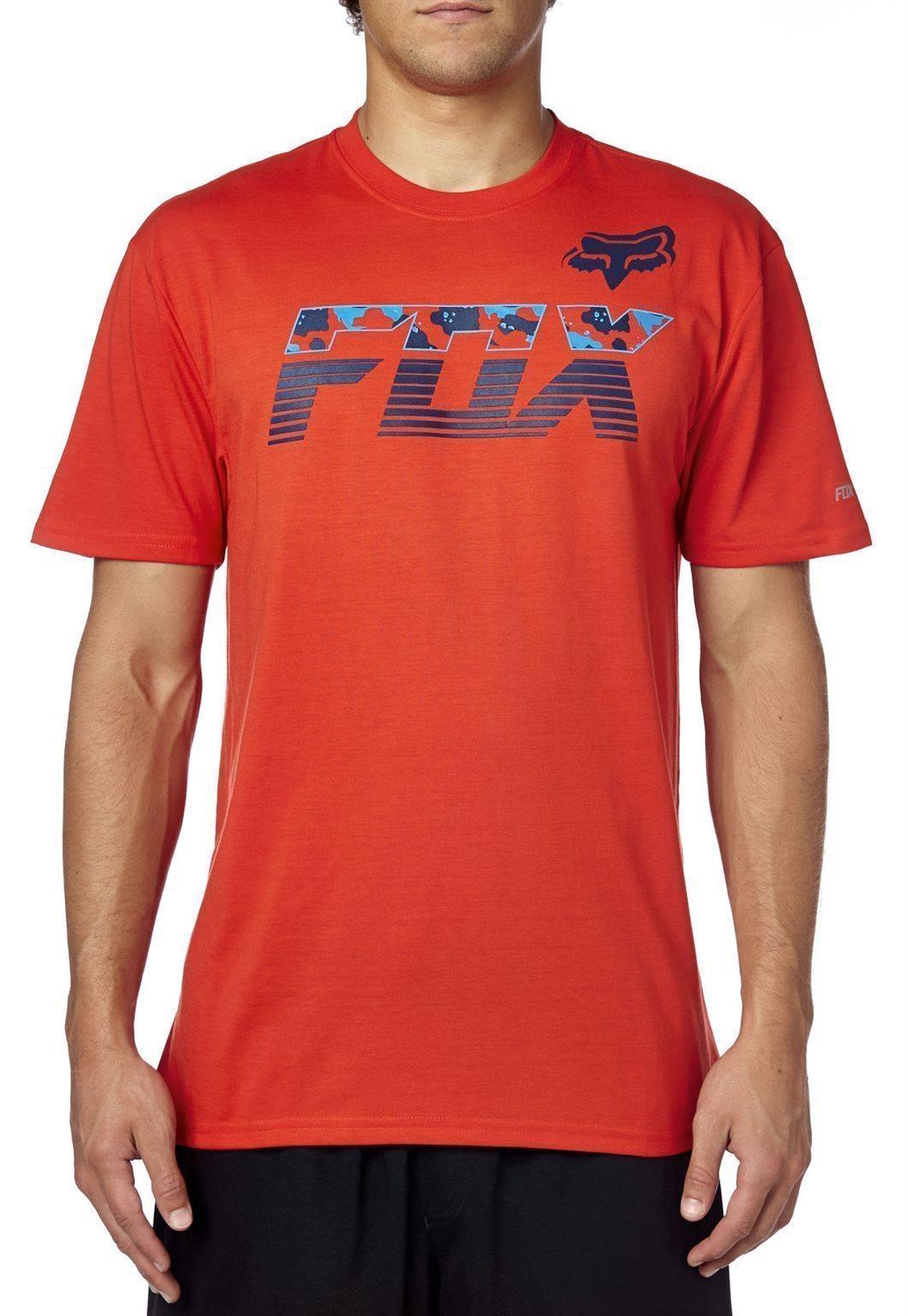 Fox póló Mako Tech lángvörös