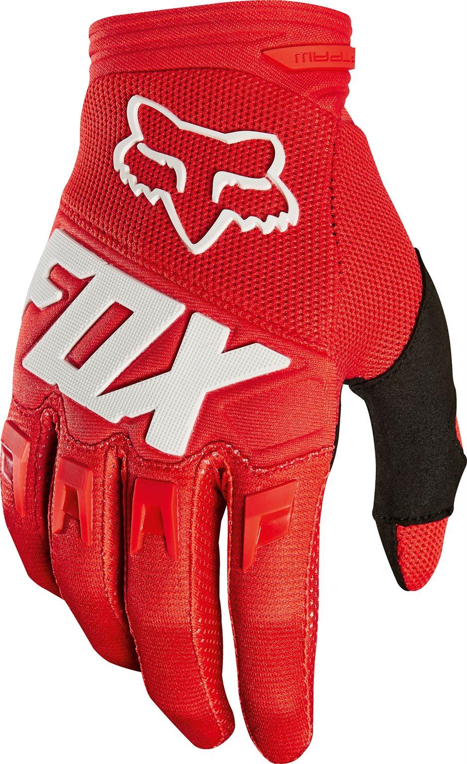 Fox cross kesztyû Dirtpaw Race piros
