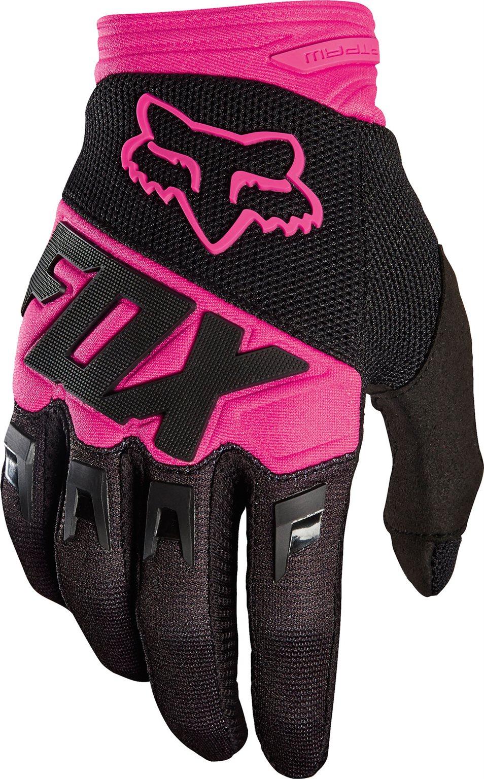 Fox cross kesztyû Dirtpaw Race fekete-pink