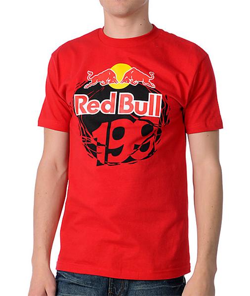 Fox póló Red Bull Travis Pastrana 199 piros